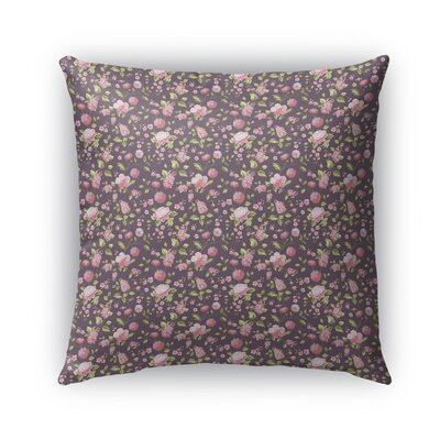 Braylin Bunch Indoor/Outdoor Throw Pillow Size: 16 x 16, Color: Rose/Pink/Purple/Green
