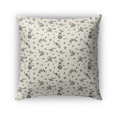 Tomberlin Floral Indoor/Outdoor Throw Pillow Size: 18 x 18, Color: Taupe/Black