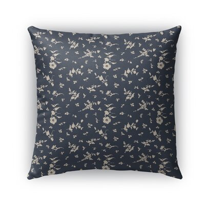 Tomberlin Floral Indoor/Outdoor Throw Pillow Size: 16 x 16, Color: Navy/Beige