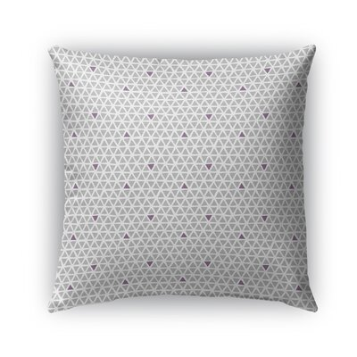 Shante Indoor/Outdoor Pillow Color: Purple/Gray, Size: 26 x 26, Product Type: Euro