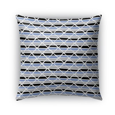 Grell Jagged Indoor/Outdoor Pillow Color: Blue, Size: 18 x 18, Product Type: Throw Pillow