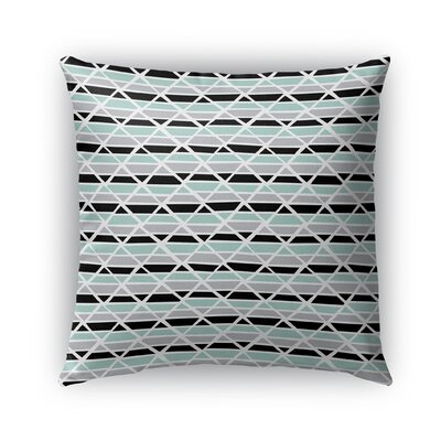 Grell Jagged Indoor/Outdoor Pillow Color: Green, Size: 26 x 26, Product Type: Euro