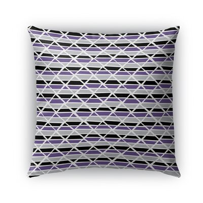 Grell Jagged Indoor/Outdoor Pillow Color: Purple, Size: 18 x 18, Product Type: Throw Pillow