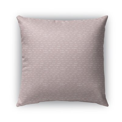 Leake Indoor/Outdoor Pillow Color: Pink, Size: 18 x 18, Product Type: Throw Pillow