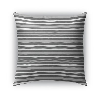 Ewers Indoor/Outdoor Pillow Color: Charcoal/Gray, Size: 16 x 16, Product Type: Throw Pillow