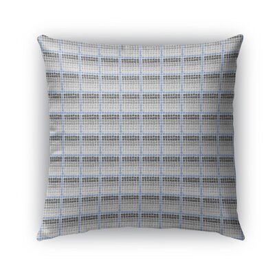 Leath Indoor/Outdoor Pillow Color: Charcoal/Gray/Blue, Size: 26 x 26, Product Type: Euro