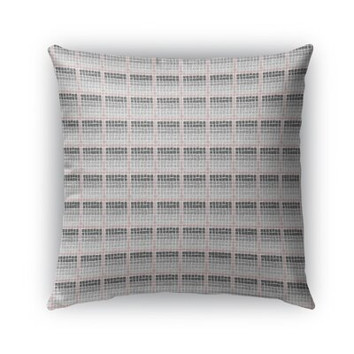 Leath Indoor/Outdoor Pillow Color: Pink/Charcoal/Gray, Size: 16 x 16, Product Type: Throw Pillow