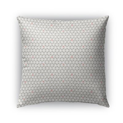 Shante Indoor/Outdoor Pillow Color: Coral/Taupe, Size: 26 x 26, Product Type: Euro