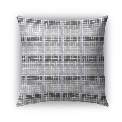 Leath Indoor/Outdoor Pillow Color: Charcoal/Gray, Size: 16 x 16, Product Type: Throw Pillow