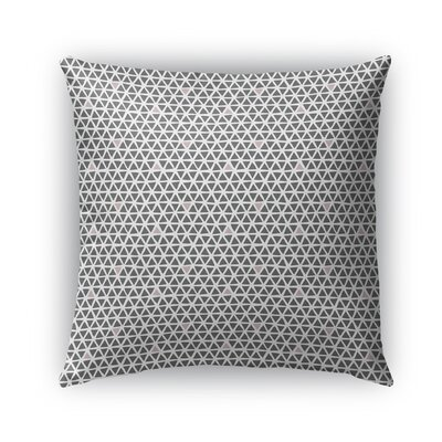 Shante Indoor/Outdoor Pillow Color: Pink/Dark Gray, Size: 18 x 18, Product Type: Throw Pillow