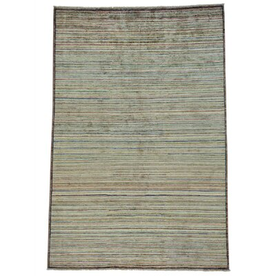 One-of-a-Kind Detrick Striped Oriental Hand-Knotted Area Rug