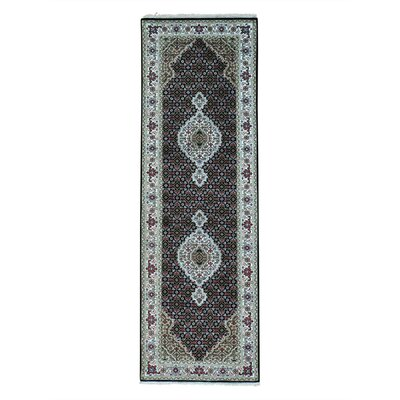 One-of-a-Kind Saltzman Mahi 250 Kpsi Hand-Knotted Silk Area Rug Rug Size: Runner 28 x 81