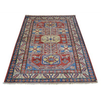 One-of-a-Kind Tillett Super Geometric Oriental Hand-Knotted Area Rug