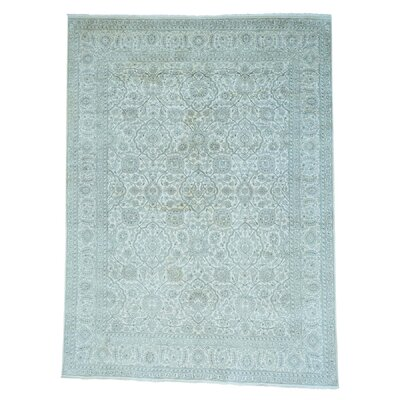 One-of-a-Kind Salmons Tone on Tone Hand-Knotted Silk Area Rug