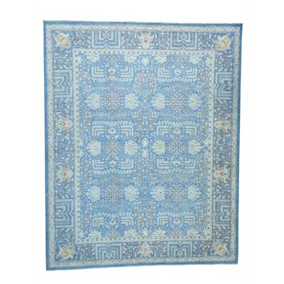 One-of-a-Kind Lavendon Willow Tree Hand-Knotted Area Rug
