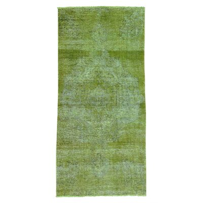 One-of-a-Kind Grasmere Overdyed Vintage Hand-Knotted Area Rug