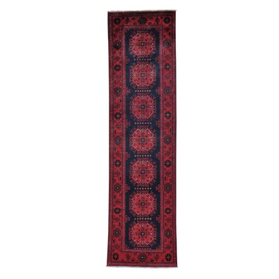 Afghan Khamyab Natural Dyes Oriental Hand-Knotted Black Area Rug