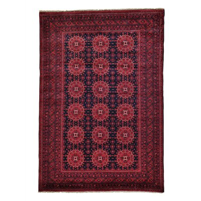 Natural Dyes Afghan Khamyab Oriental Hand-Knotted Blue Area Rug