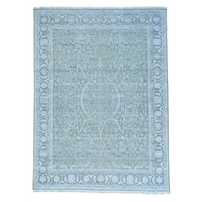 One-of-a-Kind Eberhard Oidized Oriental Hand-Knotted Silk Area Rug