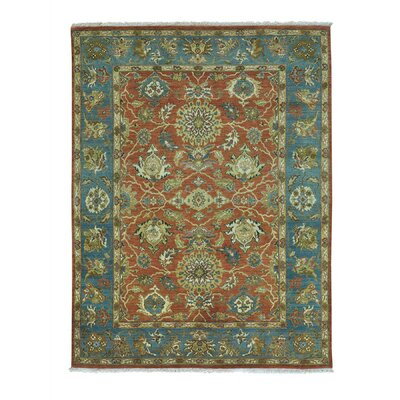 Sultanabad Oriental Hand-Knotted Red Area Rug Rug Size: Rectangle 410 x 64