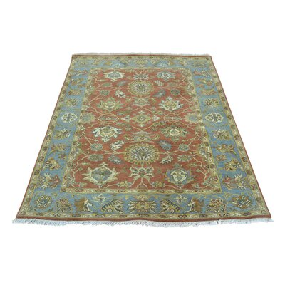 Sultanabad Oriental Hand-Knotted Red Area Rug Rug Size: Rectangle 4 x 52