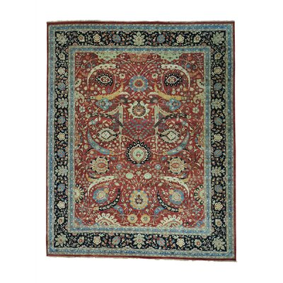 Sickle Leaf 17th Century Oriental Hand-Knotted Red Area Rug Rug Size: Rectangle 123 x 153