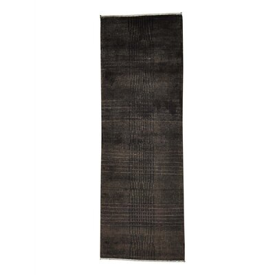 Nepali Tone on Tone Hand-Knotted Silk Brown Area Rug