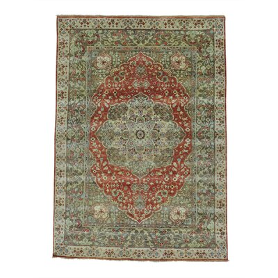 One-of-a-Kind Salmons Haji Jalili Re-creation Oriental Hand-Knotted Area Rug