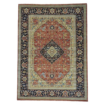 Fereghan Revival Oriental Hand-Knotted Wool Red Area Rug
