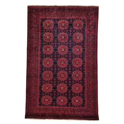 Vegetable Dyes Afghan Khamyab Hand-Knotted Wool Black Area Rug