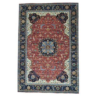 One-of-a-Kind Saltford Re-creation Oriental Hand-Knotted Area Rug