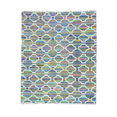 Flat Weave Kilim Oriental Hand-Knotted Beige/Blue Area Rug Rug Size: Rectangle 8 x 96