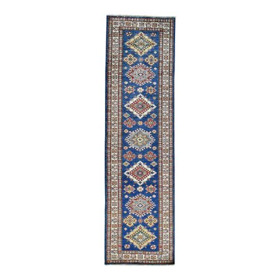 One-of-a-Kind Tilomar Geometric Super Oriental Hand-Knotted Area Rug Rug Size: Runner 29 x 98