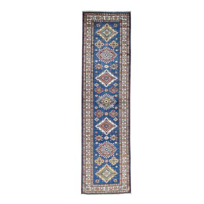 One-of-a-Kind Tilomar Geometric Super Oriental Hand-Knotted Area Rug Rug Size: Runner 27 x 98