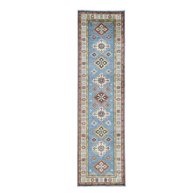 One-of-a-Kind Tilomar Super Geometric Oriental Hand-Knotted Area Rug Rug Size: Runner 27 x 99