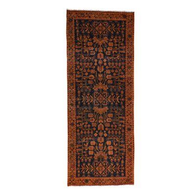 One-of-a-Kind Grasmere Overdyed Lilahan Vintage Hand-Knotted Area Rug