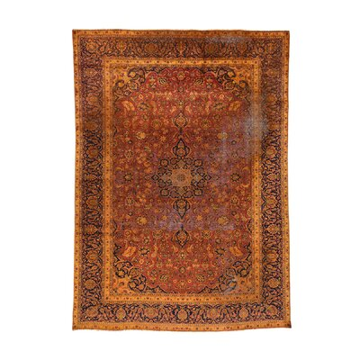 One-of-a-Kind Grasmere Overdyed Vintage Oriental Hand-Knotted Area Rug