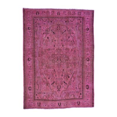 One-of-a-Kind Grasmere Overdyed Bibikabad Vintage Hand-Knotted Area Rug