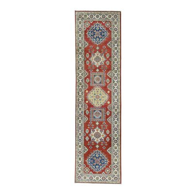 One-of-a-Kind Tillotson Geometric Oriental Hand-Knotted Red Area Rug