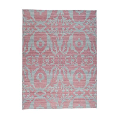Flat Weave Reversible Kilim Oriental Hand-Knotted Pink Area Rug