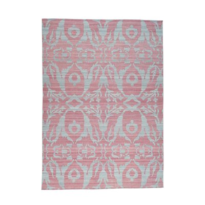 Reversible Kilim Flat Weave Oriental Hand-Knotted Pink Area Rug