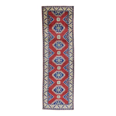 One-of-a-Kind Tilomar Geometric Hand-Knotted Area Rug