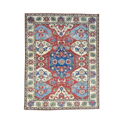 One-of-a-Kind Leela Geometric Hand-Knotted Area Rug