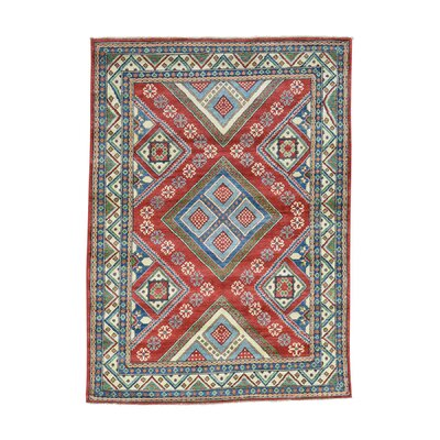 One-of-a-Kind Tilomar Geometric Oriental Hand-Knotted Area Rug