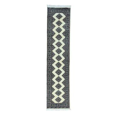 Jaldar Bokara Hand-Knotted Ivory Area Rug