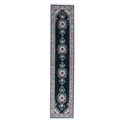 Sino Sarouk 200 Kpsi Hand-Knotted Silk Green Area Rug