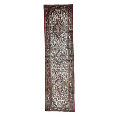 One-of-a-Kind Samford Hamadan Oriental Hand-Knotted Area Rug