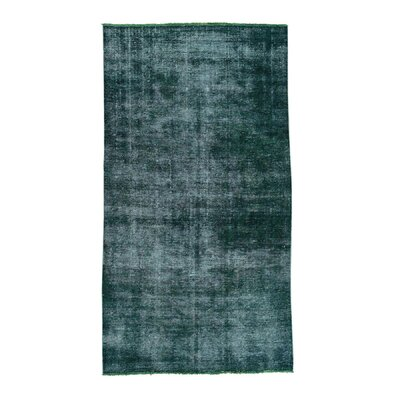 One-of-a-Kind Grasmere Overdyed Worn Oriental Hand-Knotted Area Rug