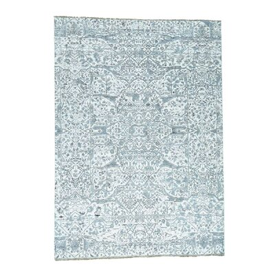 One-of-a-Kind Damian Undyed Natural Oriental Hand-Knotted Area Rug