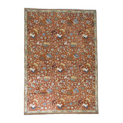 One-of-a-Kind Saltzman Hunting Hand-Knotted Area Rug
